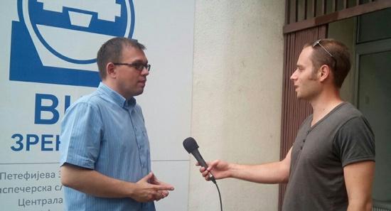 Синиша Гајин у разговору са Драганом Првуловићем (РТВ Сантос)